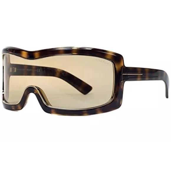 c6bc7772b7b8b Tom Ford TF 305 Olga 52J Tortoise Brown Shield Ski